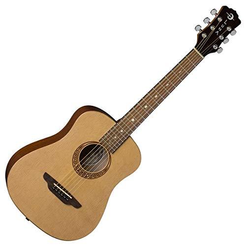 Luna Guitars SAF PK Satin Safari Muse Travel Guitar with Tune Strap Picks...