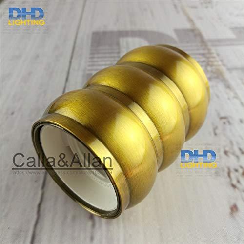 Lamp Base - 50units/pack E27 110V/220V three layers quality gold brass finished aluminum plastic CE/UL lamp socket/vintage lamp holder E27 - (Base Type: UL) by Kamas (Image #2)