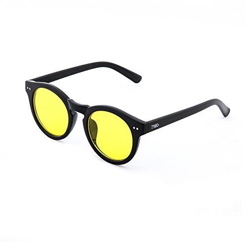 Amarillo Negro degradadas sol FRIDA Gafas mujer de TWIG espejo wqCnxZOP