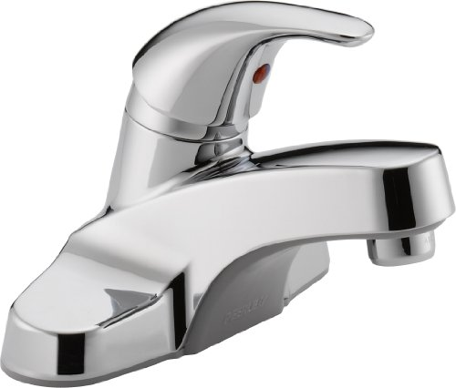 Peerless Single-Handle Centerset Bathroom Faucet, Chrome P131LF (Single Chrome Handle Centerset)