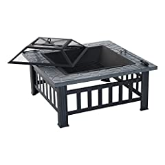 Don't get caught out in the cold when enjoying your patio at night. This outdoor fire pit is the perfect place to hang out and enjoy the pleasant crackle of burning wood. The protective spark screen allows you to sit close to the fire without...
