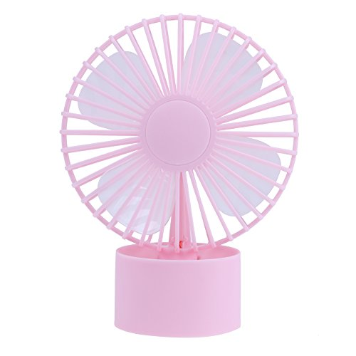 Awakingdemi Portable Rechargeable Mini USB Desktop Vehicle Sunny Fan(Pink) by Awakingdemi