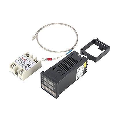 Hilitand Alarm REX-C100 Digital Intelligent Thermostat LED PID Temperature Controller Kits AC110V-240V 0?~400?