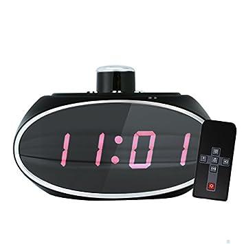 1080P Reloj digital con cámara, Espionaje Espejo espía Hidden Camera digital reloj con movimiento Erke