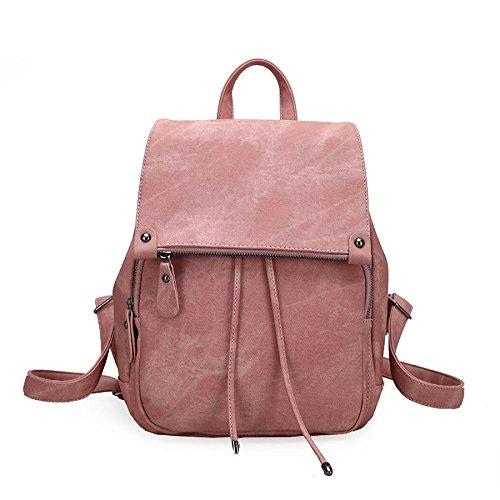 Tinta Stile Viaggio Pink Pu Per Borse Tracolla Pelle Mano Borsa Donna In College A Da Unita pxOFnqA