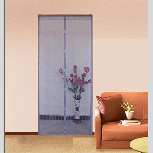 Magnetic Screen doors for homes,Screen doors with magnets Velcro magnetic screen door mesh The mosquito Door curtain Magnetic stripe closure summer Bedroom-B 70x200cm(28x79inch)