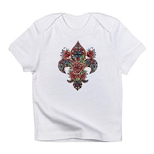 Royal Lion Infant T-Shirt Floral Fleur De Lis - Cloud White, 18 to 24 Months