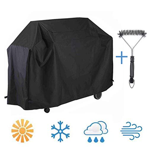 UPODA BBQ Grill Cover 58-inch 210D, Barbecue Gas Grill Cover with Brush, Waterproof Outdoor Heavy Duty UV & Dust & Water Resistant, Weather Resistant, Rip Resistant for Weber Char Broil and More