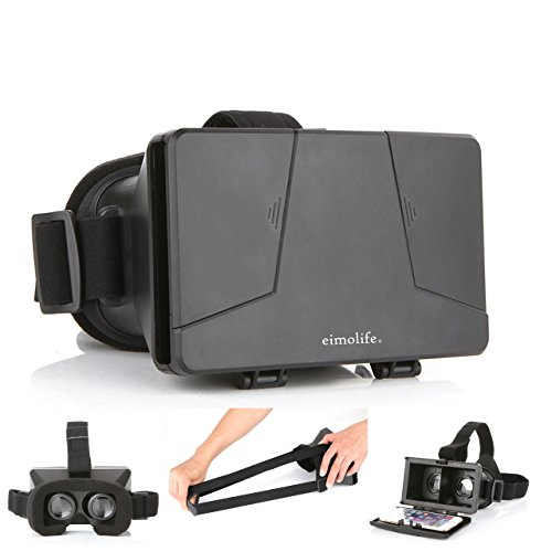LEAP-HD 2015 NEW UPDATED! VIRTUAL REALITY CARDBOARD TOOLKIT SMARTPHONE VIRTUAL REALITY VIEWER ColorCross Universal Google Cardboard Plastic Version 3D VR Complete Kit Virtual Reality Glasses Headset for Real HD 3d Experience (With NFC Tag)