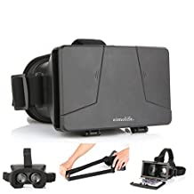 LEAP-HD® 2015 NEW UPDATED! VIRTUAL REALITY CARDBOARD TOOLKIT SMARTPHONE VIRTUAL REALITY VIEWER ColorCross Universal Google Cardboard Plastic Version 3D VR Complete Kit Virtual Reality Glasses Headset for Real HD 3d Experience