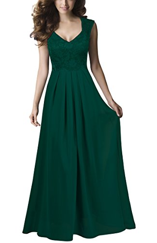 (REPHYLLIS Women Sexy Vintage Party Wedding Bridesmaid Formal Cocktail Dress(XXL,Green) )