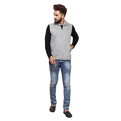 Casual Tees Navy Sleeveless Sweatshirt