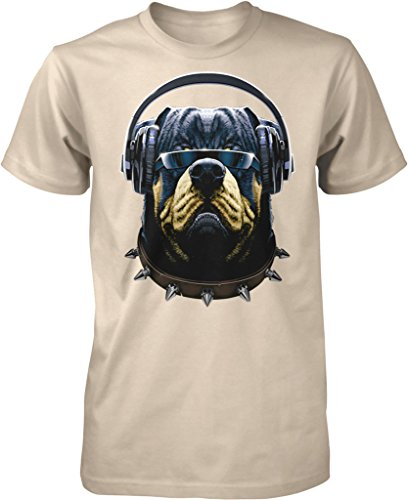 Rottweiler with Headphones and Sunglasses, DJ Rotty Men's T-shirt, NOFO Clothing Co. XXXL - Fetch Sunglasses