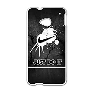 HTC One M7 Cell Phone Case White Just Do It O4486553