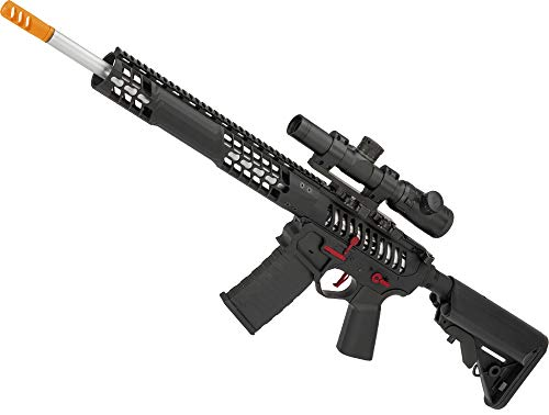 (Evike EMG F1 Firearms BDR-15 3G AR15 Full Metal Airsoft AEG Rifle (Color: Black/Red Selector/Crane)