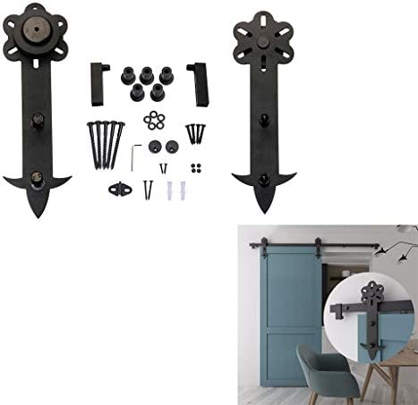 ドアレールハードウェアセット 100-300cm納屋のドアスライディングドアプロのハードウェアキット、寝室のプッシュとプルドア吊りレールトラックアクセサリー (Size : 300cm single door kit)