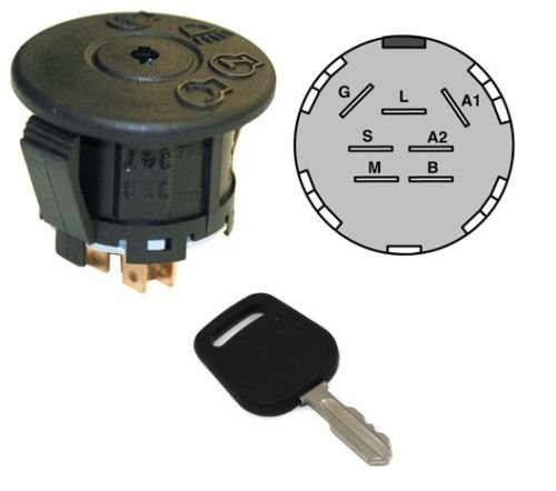 IGNITION / STARTER SWITCH & KEY for Cub Cadet 925-04227 925-04227A 925-04227B