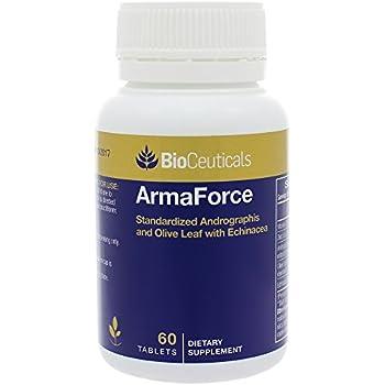 Amazon.com: BioCeuticals ArmaForce Inmune Support Olive Leaf ...