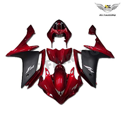 NT FAIRING Glossy Red Black Injection Mold Fairing Fit for Yamaha 2007 2008 YZF R1 R1000 YZF-R1 New Painted Kit ABS Plastic Motorcycle Bodywork Aftermarket