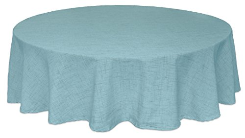 "Bardwil Linens Brussels 60""x84"" Oval Tablecloth, Turquoise"
