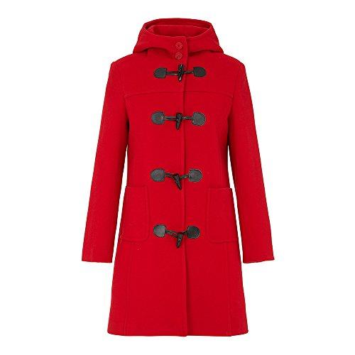 Wool Ladies Coat amp; Cashmere Duffle Red fU4qvY