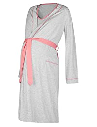 Happy Mama. Womens Maternity Hospital Gown Robe Nightie Set Labour & Birth. 767p