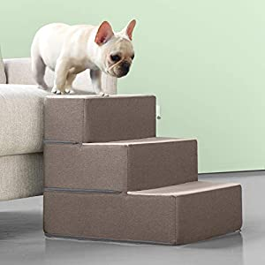 Zinus Easy Pet Stairs/Pet Ramp/Pet Ladder, Medium, Sand Click on image for further info.
