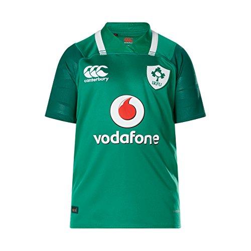 Canterbury Ireland Rugby 2017/18 Vapodri+ SS Home Pro Jersey - Youth - Bosphorus - Age 6