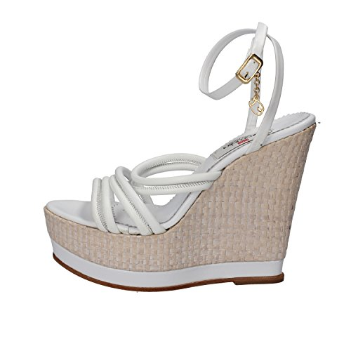 BRACCIALINI Sandals White Leather AH382 (9 US / 39 EU)