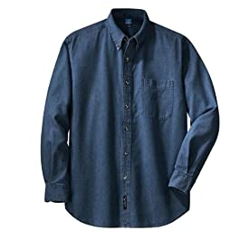 Men's  Long Sleeve Denim Shirt Ink Blue
