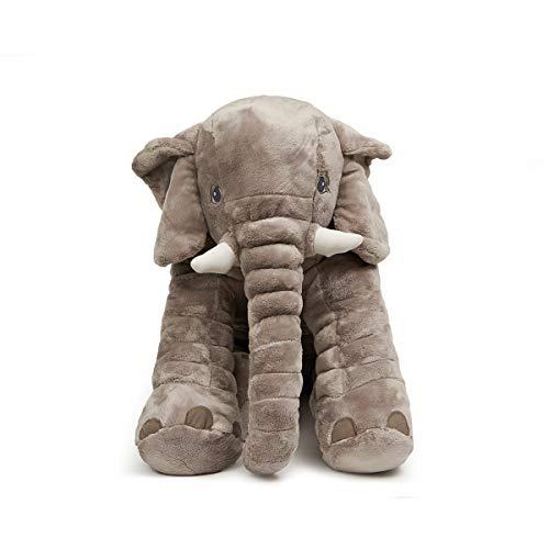 LApapaye 24inch Stuffed Elephant Plush Animal Toy Stuffed Animal (Grey) ()