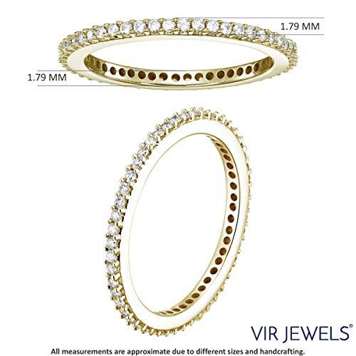 Vir Jewels 1/2 cttw Diamond Eternity Ring 14K Yellow Gold Wedding Band Size 6 by Vir Jewels (Image #2)