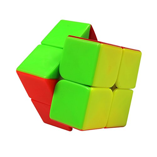FC MXBB 2x2 Speed Cube Stickerless Magic Cube Colorful(50mm), Environmentally friendly ABS Material harmless to human body; Ideal toys for kids Abs Plastic Body