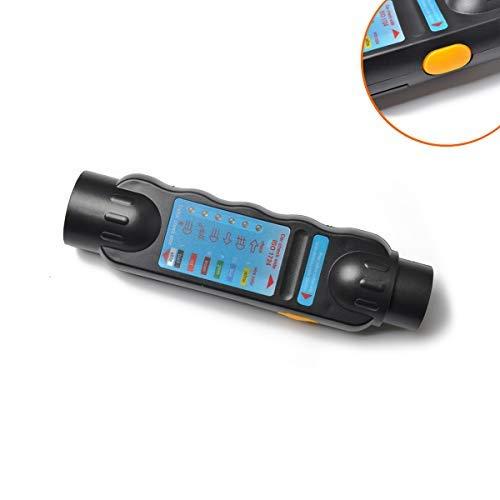 HERCHR 7-Hole Trailer Plug and Socket Connector Tester -12V Resistance Tester without Recording Device, Black
