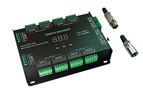 32 Channel 96A RGBW DMX 512 LED Decoder Controller DMX Dimmer DC5-24V RGBW RGB LED light 8 Bit/16 Bit - Rgb Led Dmx Controller