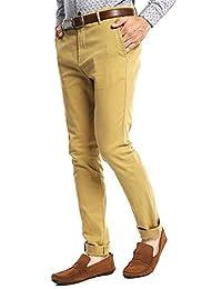 Simple People Pantalón Skinny Café Pantalones para Hombre