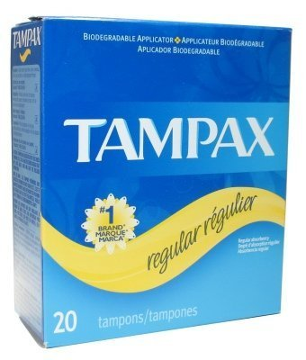 Tampax Regular 20 Tampons (Pack of 24) by Tampax