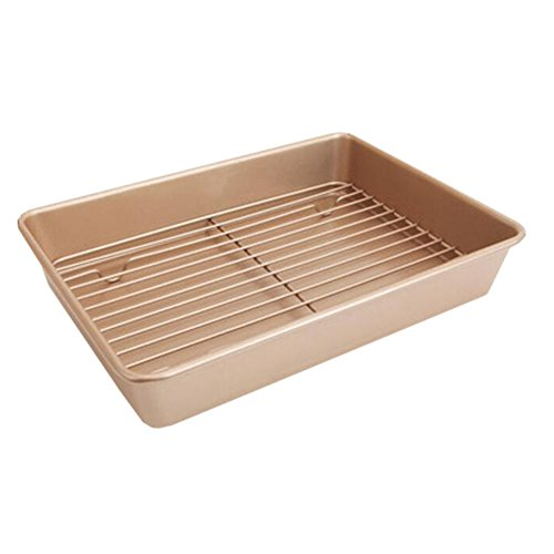 Xinvision 13-inch Nonstick Cake Baking Tray Thanksgiving Day Turkey Roasting Pan (High 6CM)