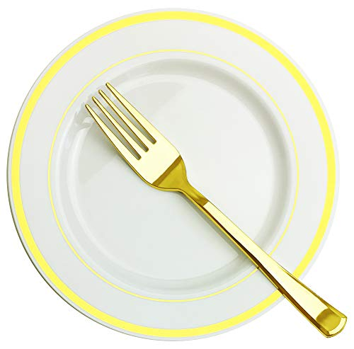 Gold Accent Salad Plate - 4
