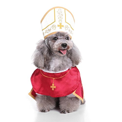 Alalaso-Pet clothing ,2018 Halloween Priest Cool And Cute Pet Cosplay Costume Dog Pet Costume (S)