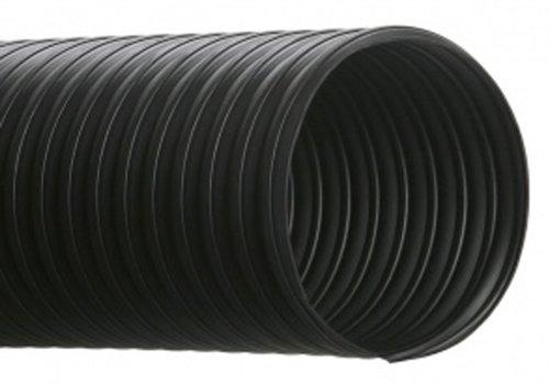 Thermoplastic Rubber Hose - Hi-Tech Duravent RFH Series Thermoplastic Rubber Duct Hose, Black, 8