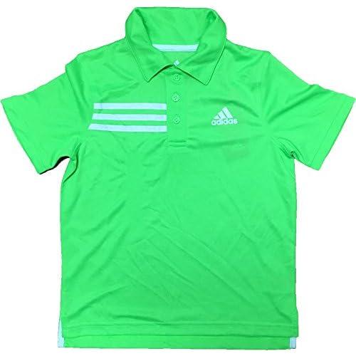 Cheap adidas Boy's Short Sleeve Athletic Polo Shirt Neon Green for sale