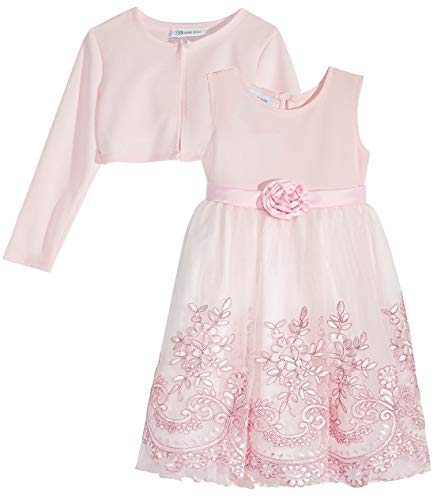 Bonnie Jean Girls Soft Pink Embroidered Size 4-6X Dress & Cardigan (5) Bonnie Jean Embroidered Jeans