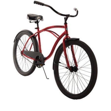 26 Inch Huffy Men's Cranbrook Cruiser Bike, Red