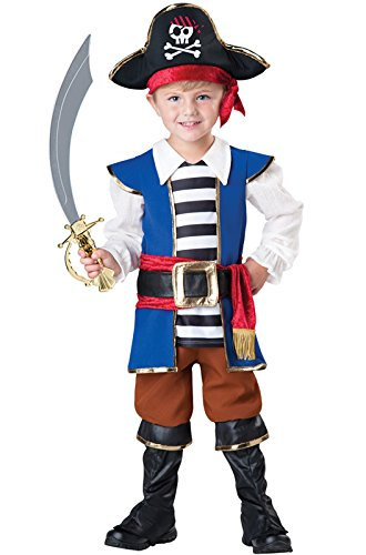 InCharacter Baby Boy's Pirate Boy Costume, Blue/Red, 4T by Fun World