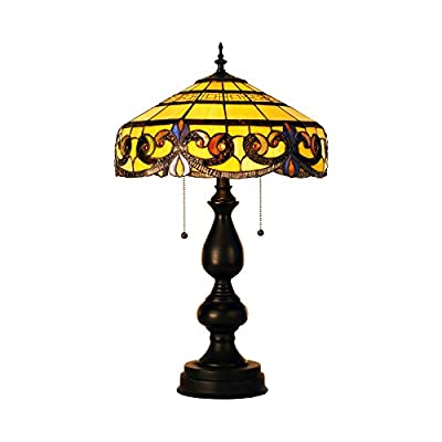 CO-Z Tiffany Style Lamp, Table Lamp for Living Room Bedroom, Desk Lamp Floor Lamp, UL Listed