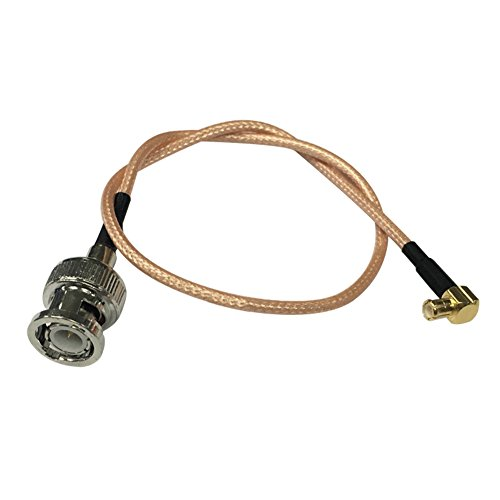 SaferCCTV(TM)39inch(3.3ft=1m)BNC Male to MCX Male Right Angle with RF Coaxial Coax Jumper/Adapter RG316 Cable Assembly for Antenna SDR Radio External Antenna Dell