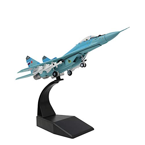 1/100 Scale Russian Air Force MiG-29 Light Fighter Military Model Diecast Plane Model for Commemorate Collection or Gift