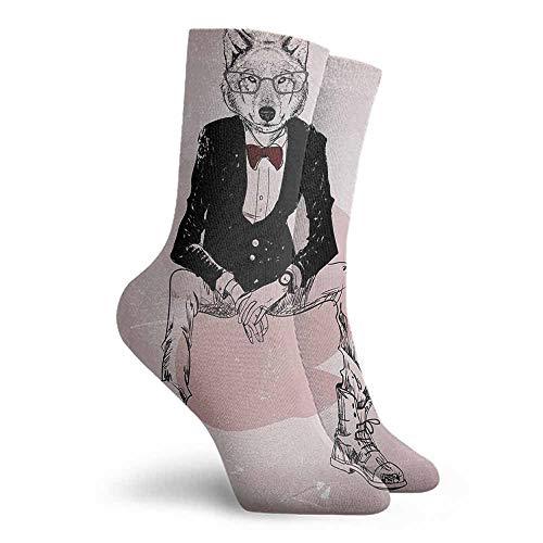 Indie High Ankle Crew Socks Hiker Boot Sock Baby Pink Black Burgundy (Pink Sock Monkey Lovey)