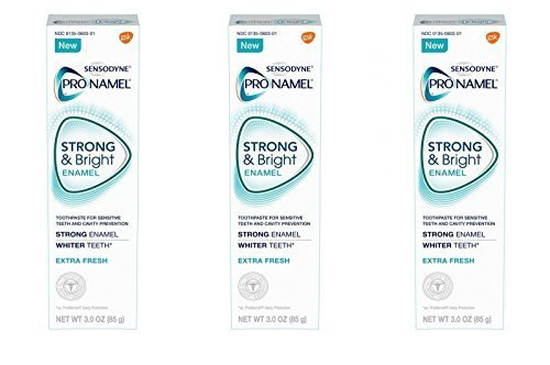 Sensodyne Pronamel Strong and Bright Extra Fresh Toothpaste, 3 Ounce (Pack of 3)
